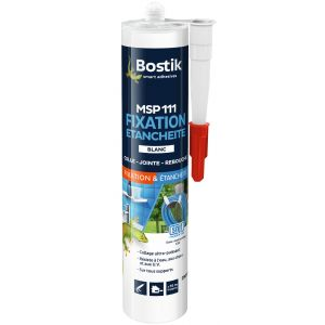 Bostik Fixation & étanchéité MS110 - Blanc - Cartouche 290 ml