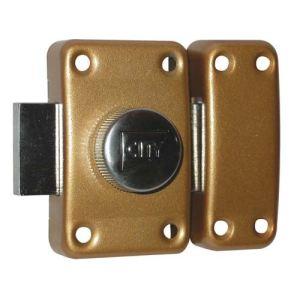 Iseo France 10020501 - Verrou City 25 à bouton bronzé or 50 mm