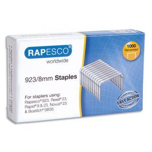 Rapesco Boîte de 1000 Agrafes galvanisées 923 8 mm en acier - Lot de 16