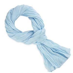 Allée du foulard Echarpe Chèche coton bleu ciel bleu - Taille Unique