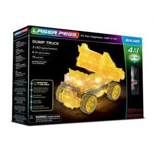 Laser pegs Jeux de construction 4-en-1 Dump Truck - Coffret de 76 pièces