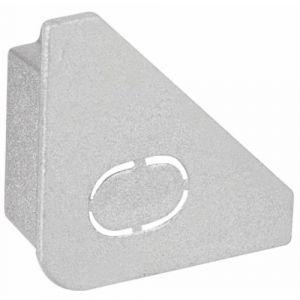 Paulmann Lot de 2 Delta Profil End Cap aluminium (mat)