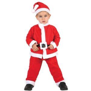 Atosa Déguisement pére Noël enfant (3-4 ans)