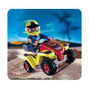 Playmobil 4425 - Les Aventuriers : Pilote quad rouge