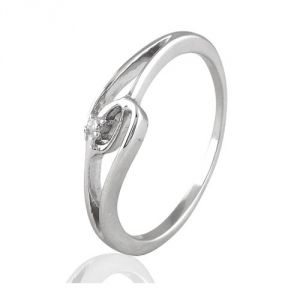 CaraShop 3663644011336 - Bague diamant en or blanc