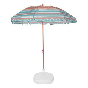 Parasol de plage, FOLD Rayé Vert Taille Taille Unique