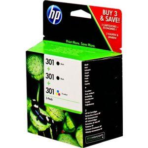 HP E5Y87EE - Cartouches d'encre Tri-pack 301 (2 noires, 1 couleurs)