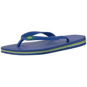 Havaianas Brasil Logo, Tongs Mixte Adulte Bleu Marine (Marine Bleu) 43-44 BR / 45-46EU