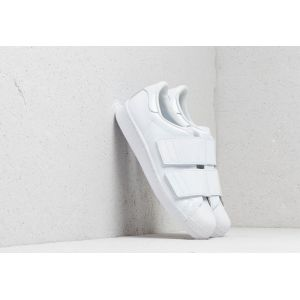 Adidas Baskets basses en cuir et cuir vernis Superstar Blanc Originals
