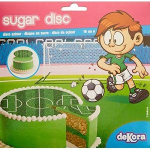 Disque de décoration en sucre 16 cm FOOT