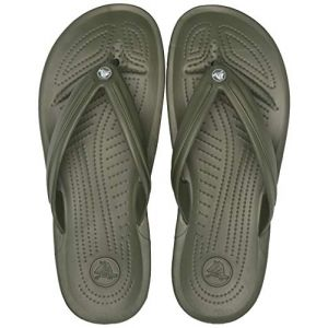 Crocs Crocband Flip, Tongs Mixte Adulte, Vert (Army Green/White 37p), 43/44 EU