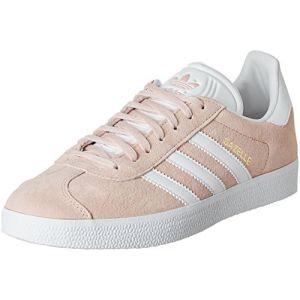Adidas Gazelle, Sneakers Basses Mixte Adulte, Rose (Vapour Pink/White/Gold Metallic), EU40