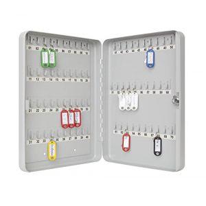 Wedo 102 56537X - armoire à clés pour 70 clés, gris-lumière, plate
