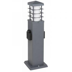 Globo Lampadaire d'extérieur 2x douille de jardin en acier inoxydable lampe sur pied d'éclairage de cour anthracite 37009-2