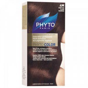 Phyto Paris Phytocolor 4M Châtain Clair Marron - Coloration soin permanente haute brillance