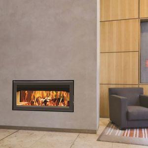 Termofoc C1000DF - Insert à bois cadre en acier et verre + Kit de ventilation pour insert C1000DF