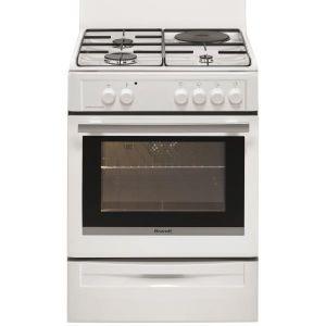 Brandt BCM6641W - Cuisinière mixte 3 foyers gaz avec four électrique