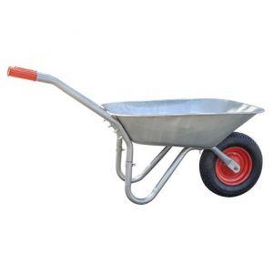 GALICO Brouette Practo Garden Capacité : 85 l Charge max : 100 kg Roue pne atique