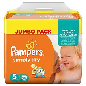 Pampers Simply Dry taille 5 Junior 11-25 kg - Jumbo Pack 66 couches