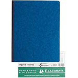 Exacompta Registre 8 colonnes sur 1 page 80 pages (250 x 320 mm)