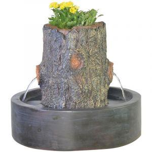 Zen Light Fontaine jardinière tronc d'arbre Artpot