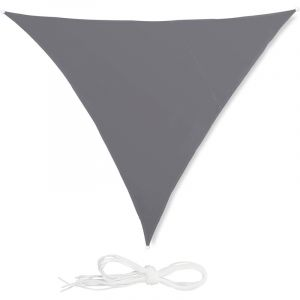 Relaxdays Voile d'ombrage triangle diffuseur d'ombre protection soleil balcon jardin UV 3x3x3m toile imperméable, gris