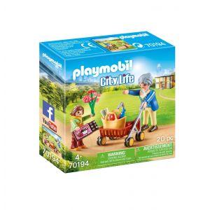 Playmobil 70194 - Petite fille et grand-mère City Life