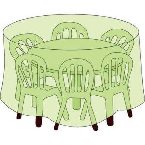 Housse de protection pour table ronde