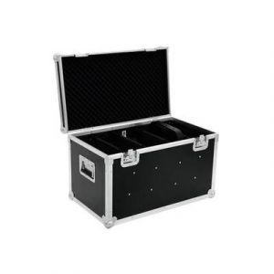 Roadinger Mallette pour appareils Transportcase für PRO Slim avec poignée de transport noir,argent aluminium, bois