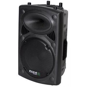 "Ibiza Sound SLK-12A-USB - Enceinte sono amplifiée 12""/30cm 700w avec usb-mp3"