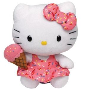 Ty Beanie Babies : Hello Kitty Ice Cream 15 cm