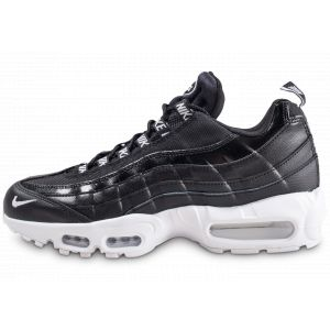 Nike Homme Air Max 95 Premium Overbranded Noire Et Blanche Baskets