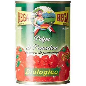 Rega Tomates Concassées Bio 400 g - Lot de 8