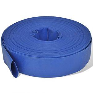 VidaXL Tuyau plat en PVC pour la distribution de l'eau 50 m 2''