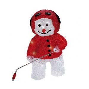 Blachère illumination Bonhomme de neige hockeyeur lumineux 16 LED