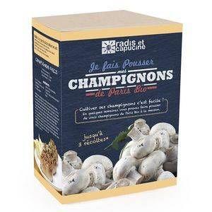 Radis et capucine Kit de culture pour champignons blancs de paris bio 25x20x15 cm