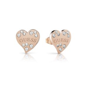 Guess Puces d'oreilles ornées de cristaux de Swarovski - rose