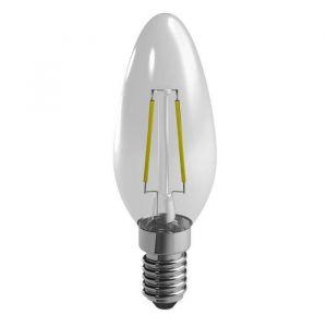 Duracell Ampoule LED E14 a filaments flamme 2,4 W équivalent 25 W blanc chaud - Culot E14 - Flamme - 2,4 W équivalent à 25 W - Flux lumineux : 250 lm - Température de couleur : 2700 °K.
