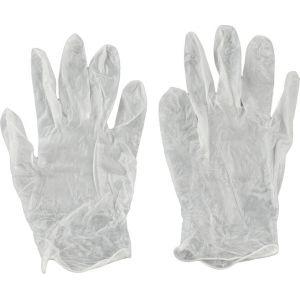 Kwb Gants jetables en vinyle sans couture ambidextres M/8 - 933821