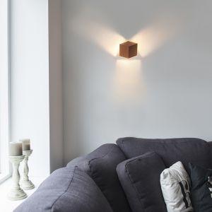 Qazqa Design/Moderne Applique murale Cube cuivre Aluminium Cuivre Cube/Luminaire/Lumiere/Éclairage/intérieur/Salon/Cuisine