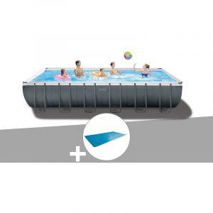 Intex Kit piscine tubulaire Ultra XTR Frame rectangulaire 7,32 x 3,66 x 1,32 m + Bâche à bulles