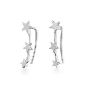 Rosefield Boucles d'oreilles JTSSS-J062 - Collection IGGY Puces Triple Etoiles Laiton