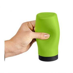 Wenko 54690100 Distributeur de liquide vaisselle Squeez-e, Silicone, Vert, Ø: 6 x 14 cm