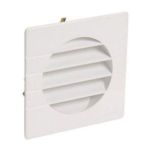 Nicoll Grille extérieure pour tube PVC O110 blanc moustiquaire