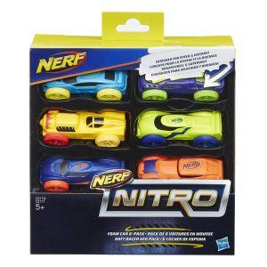 Hasbro Pack de 6 voitures en mousse Nerf Nitro