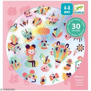 Djeco Stickers holographique - Lovely rainbow - 30 pcs