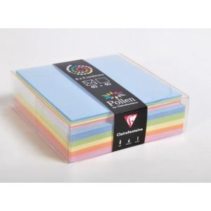 Clairefontaine 20802C - Coffret de 40 enveloppes 114x162 + 40 cartes 110x155 (5 couleurs Printemps)