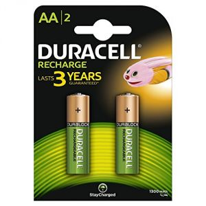 Duracell 2 piles rechargeables AA 1300 mAh Plus Power