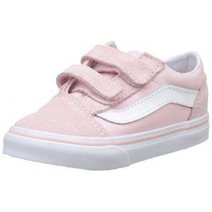 Vans Chaussures Bébé Old Skool V (chalk Pink-true White) Enfant Rose, Taille 25.5