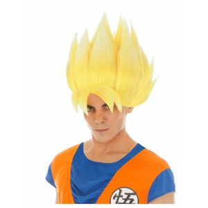 Chaks Generique - Perruque Jaune Goku Saiyan Dragon Ball Z Adulte